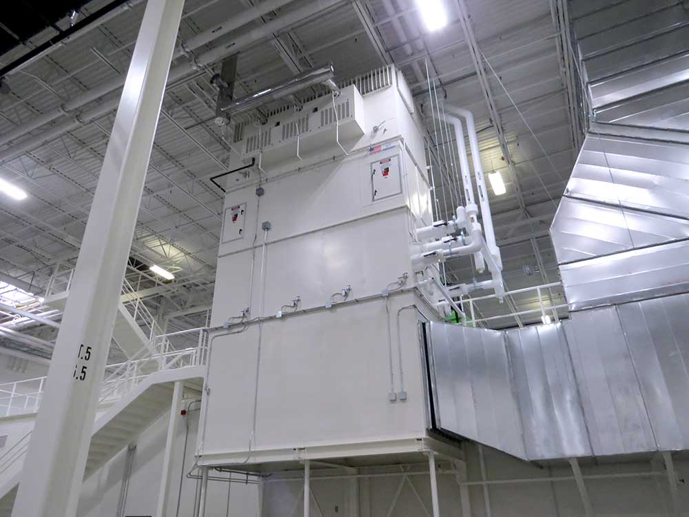 Johnson Air Rotation Hvac Systems Provides Mezzanine Level