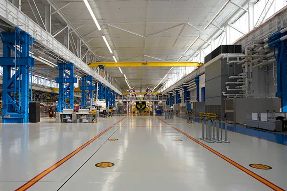 Major Aircraft Manufacturing Facility Keeps Cool With
